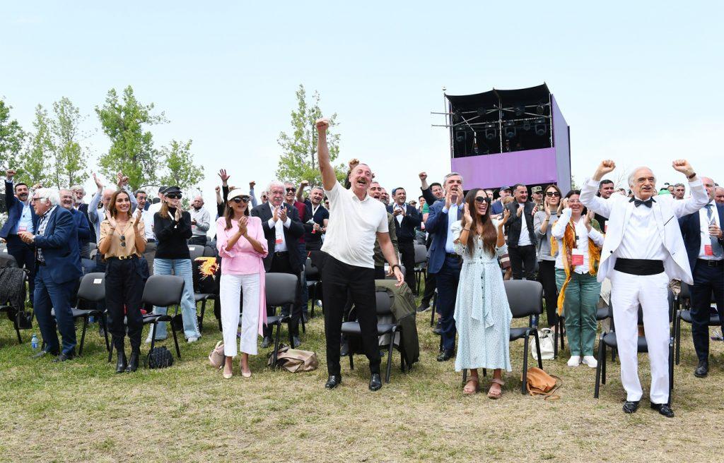 """Prezident İlham Əliyev: """"Biz Cıdır düzündə musiqi bayramını, birlik bayramını, qayıdış bayramını, ləyaqət bayramını qeyd edirik"""""""